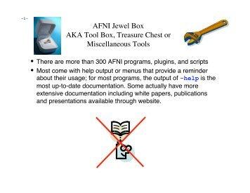AFNI Jewel Box AKA Tool Box, Treasure Chest or Miscellaneous Tools