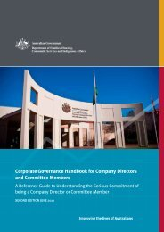 Corporate Governance Handbook - Department of Families ...