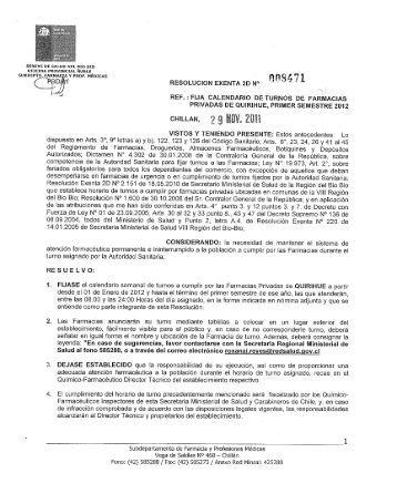 31% RESOLUCION EXENTA 20 No n -' 8 í 71 - SEREMI de Salud ...