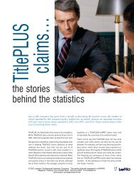 TitlePLUS Claims: the stories behind the statistics - practicePRO.ca