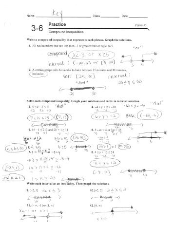 All Worksheets » Compound Inequalities Worksheets - Printable ...