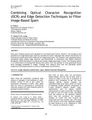 (OCR) and Edge Detection Techniques to Filter Image-Based Spam