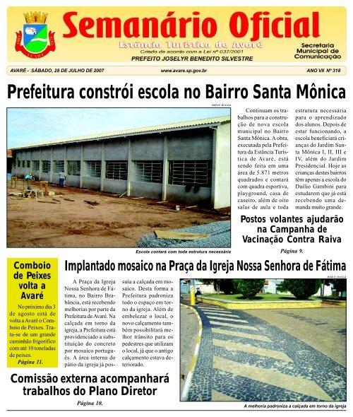 Prefeitura constrói escola no Bairro Santa Mônica - Câmara ...