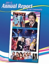 View our 2011-12 Annual Report to the Community - Schauer Arts ...