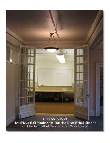 Project report Hendricks Hall Workshop: Interior Door - Planning ...