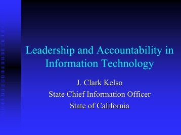 Leadership and Accountability in Information Technology