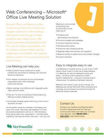 how to setup microsoft live meeting
