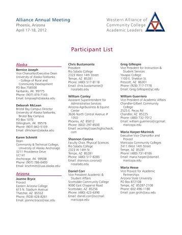 Participant List - WICHE