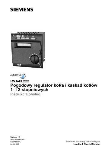Pogodowy regulator kotła i kaskad kotłów 1- i 2-stopniowych - ALPAT