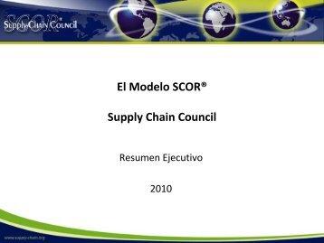 El Modelo SCOR® Supply Chain Council