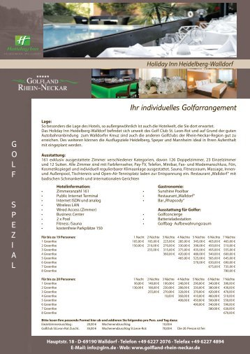 Holiday Inn Heidelberg-Walldorf - Golfland Rhein-Neckar