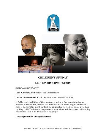 CHILDREN'S SUNDAY - The African American Lectionary