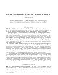 Unitary representations of rational Cherednik algebras, II