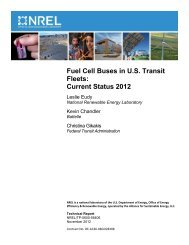 Fuel Cell Buses in U.S. Transit Fleets: Current Status 2012 - NREL