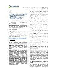 Versicherungsbedingungen Visa Classic - Raiffeisen