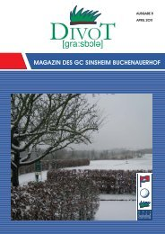 Bernd Holfelder Beraten • Planen • Gestalten ... - Golfclub Sinsheim