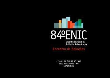 Apresentação do 84º ENIC em Belo Horizonte - sicepot-mg