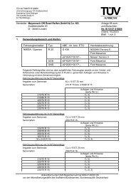 Hersteller: Mayerosch Off Road Reifen GmbH & Co. KG Anlage 65 ...