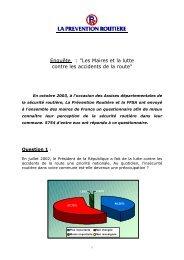 Les Maires et la lutte contre les accidents de la route - Association ...