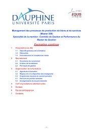Formation continue - Lamsade - Université Paris-Dauphine