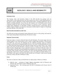 GEOLOGY, SOILS, AND SEISMICITY - Calaveras County