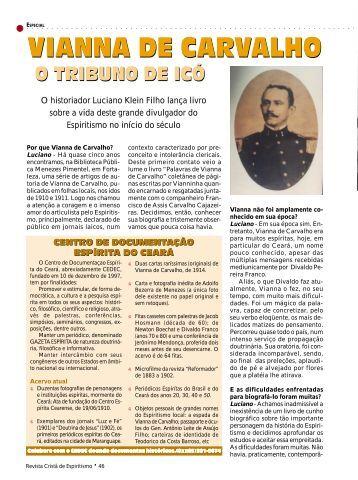 Vianna de Carvalho - Revista Cristã de Espiritismo