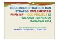 Bahan Paparan TL Wilayah I dalam Workshop NMC - P2KP