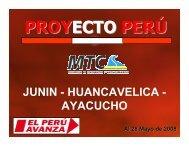 JUNIN - HUANCAVELICA - AYACUCHO - Provias Nacional