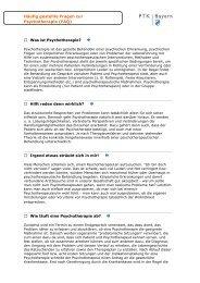 Häufig gestellte Fragen zur Psychotherapie (FAQ) - PTK Bayern