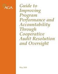 Cooperative Audit Resolution and Oversight Initiative (CAROI) - AGA