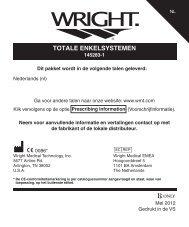 TOTALE ENKELSYSTEMEN - Wright Medical Technology, Inc.