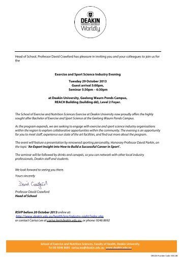 ESS Industry Evening Invitation