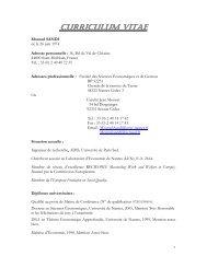 CURRICULUM VITAE - EconomiX