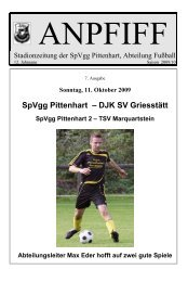 SpVgg Pittenhart – DJK SV Griesstätt