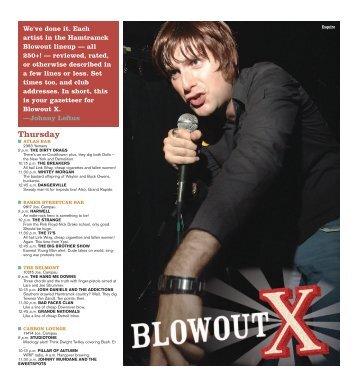 Blowout X Schedule - Metro Times