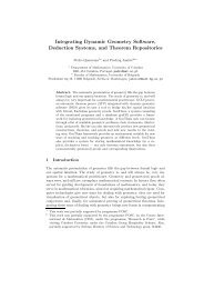 Integrating Dynamic Geometry Software, Deduction ... - ARGO