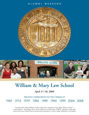 William & Mary Law School April 17–18, 2009
