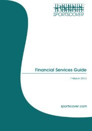 Financial Services Guide - Sportscover