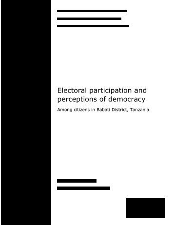 Electoral participation and perceptions of democracy