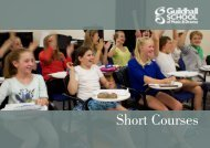 Short Courses - Guildhall School of Music & Drama
