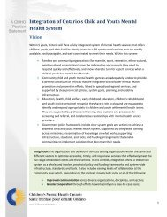 Integration of Ontario's Child and Youth Mental Health System
