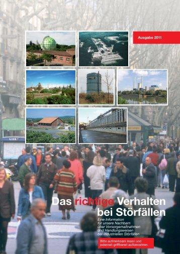 Störfallbroschüre, Ausgabe 2011 - STEAG Power Saar GmbH