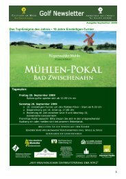 Newsletter September 2009 - Golfclub am Meer - Bad Zwischenahn