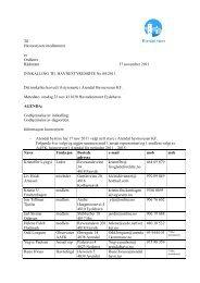 Innkalling & saksliste 23 nov 2011 - Arendal Havn