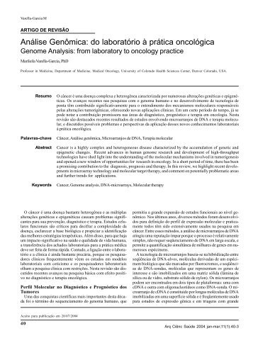 Genome Analysis: from laboratory to oncology practice