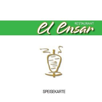 Speisekarte ansehen - El Ensar