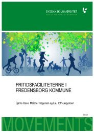 Rapport om fritidsfaciliteter - Fredensborg Kommune