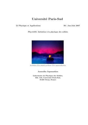 Université Paris-Sud - Laboratoire de Physique des Solides