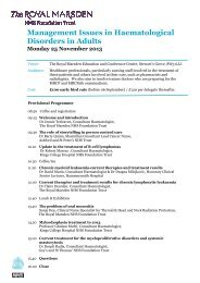 Download programme and printable booking form - Royal Marsden ...