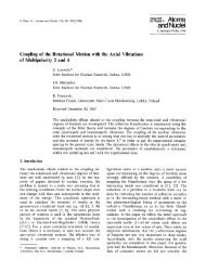 Coupling of the rotational motion with the axial vibrations ... - Springer